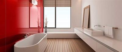 دیوارپوش رنگی حمام