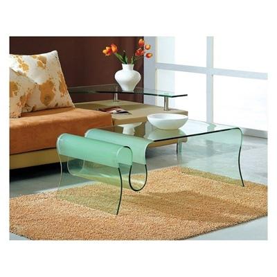 میز خم شیشه ای