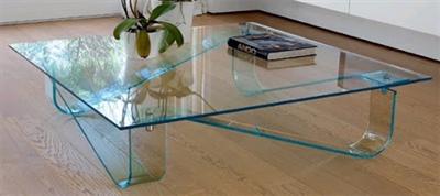 میز شیشه ای خم