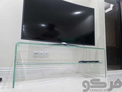 میز تلویزیون شیشه خم