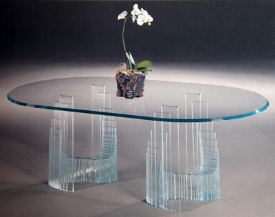 میز خم شیشه ای اداری